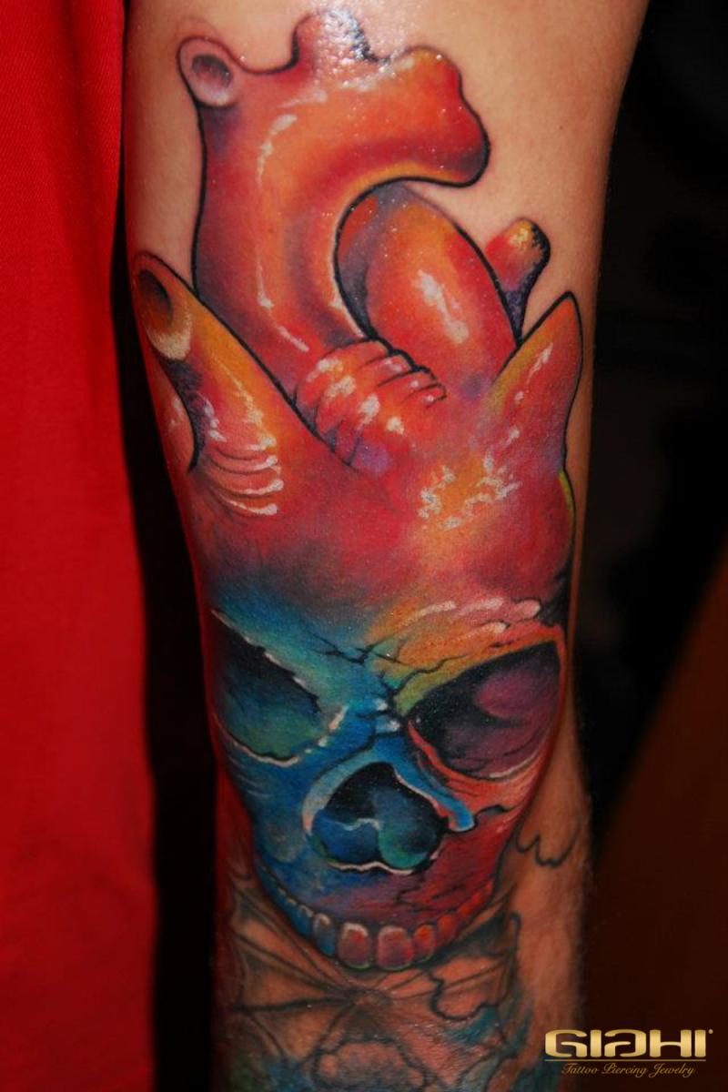 Skull Heart tattoo by Szilard