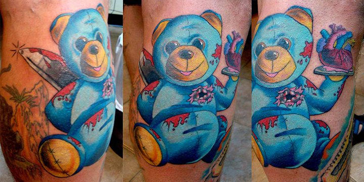Smiling Killer Bear tattoo by Tantrix Body Art