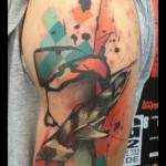 Swimming Penquin tattoo by Live Two
