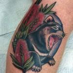 Tassie Devil tattoo by Drea Darling