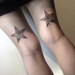 Thigh Stars Japanese pattern tattoo by Nissaco Tatau