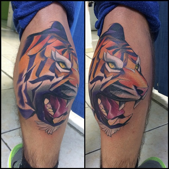 Amazing Angry Tiger on Ankle