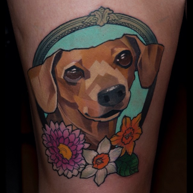 Big Eyes Doggy tattoo