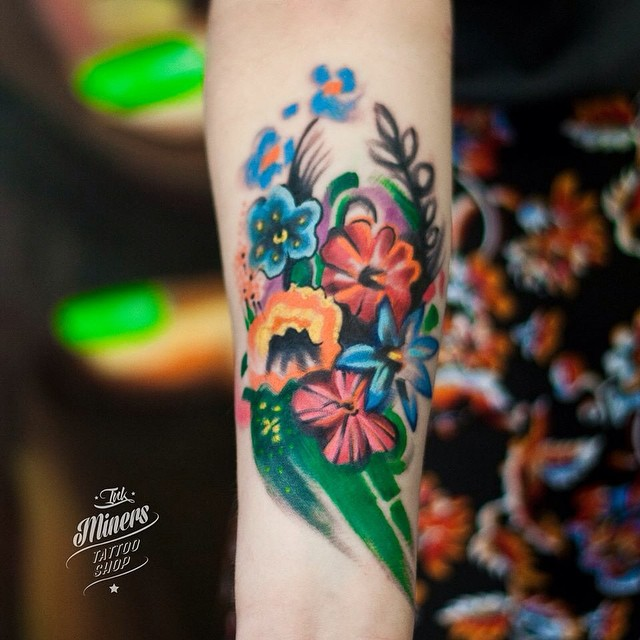 Flowers Forearm tattoo
