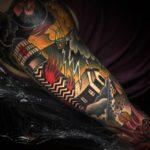 Lighthouse Thunder Storm tattoo by Aniela