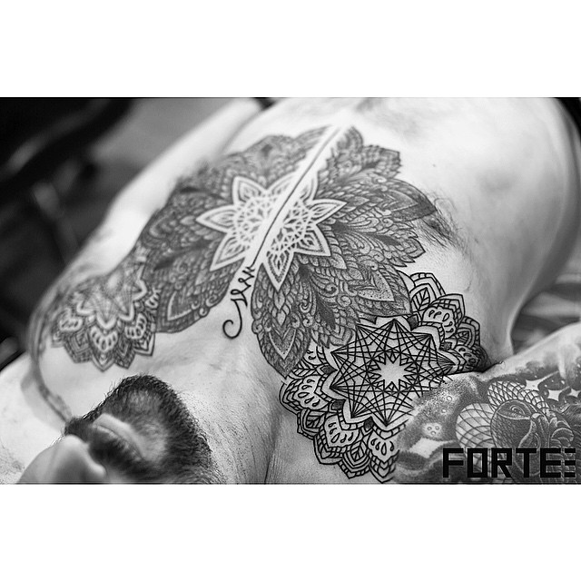 Mandala Chest piece
