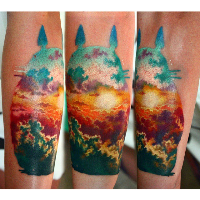 Over Clouds Sunset tattoo