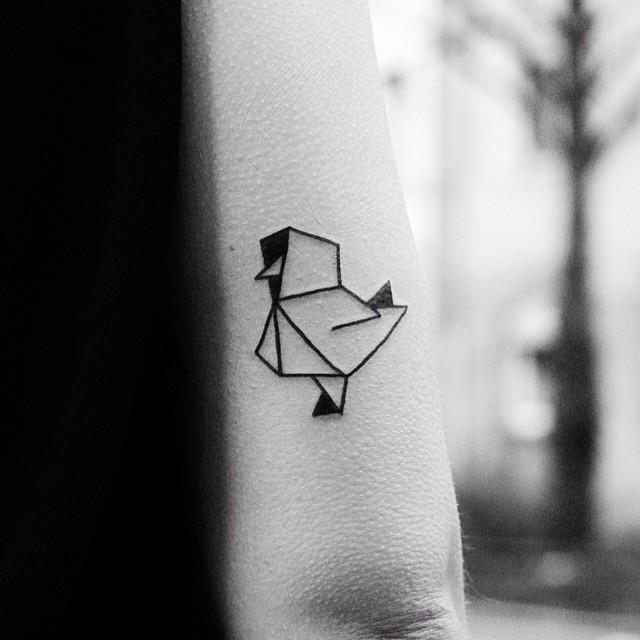 Paper Chicken Small tattoo