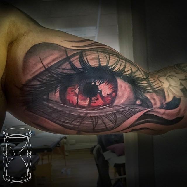 Realistic Eye tattoo on Arm