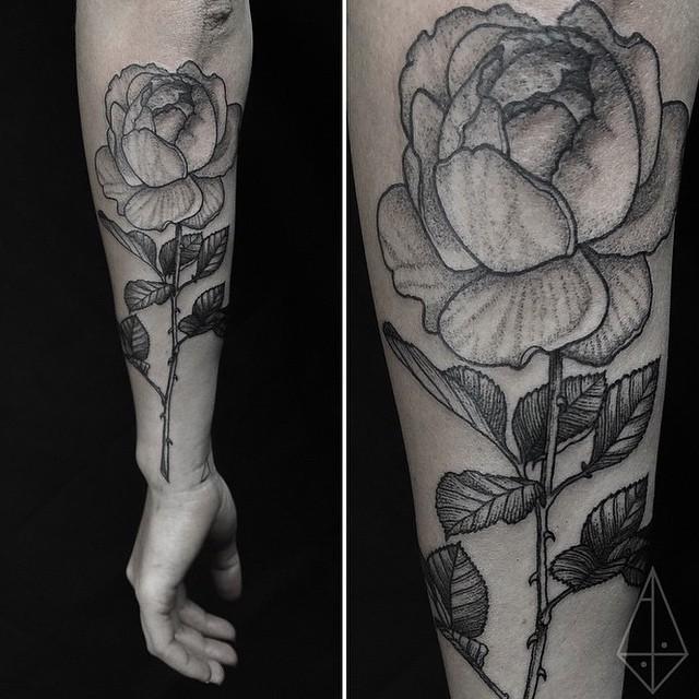 Rose Arm Dotwork