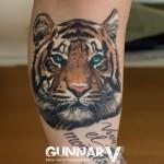 Serious Tiger tattoo