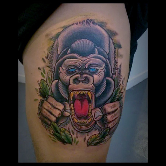 Thigh Angry Gorilla
