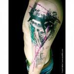 Top of The Statue of Liberty Trash Polka tattoo