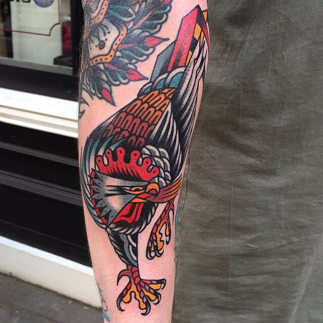 Angry Rooster tattoo