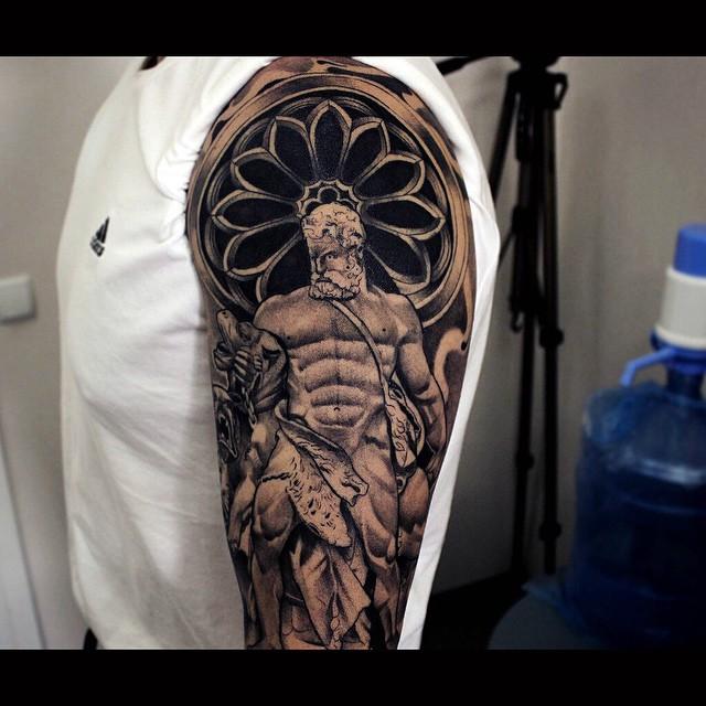 Antique Hercules Shoulder tattoo