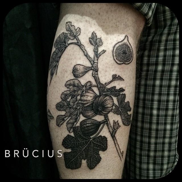Arm Fig Etching tattoo