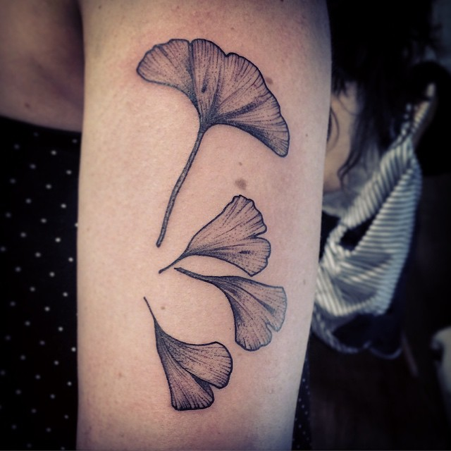 Arm Flower Petals Graphic tattoo