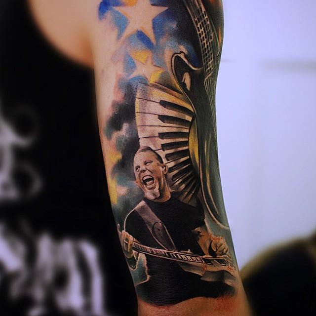 Arm James Hetfield tattoo