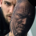 Awesome Realistic Portrait tattoo on Arm