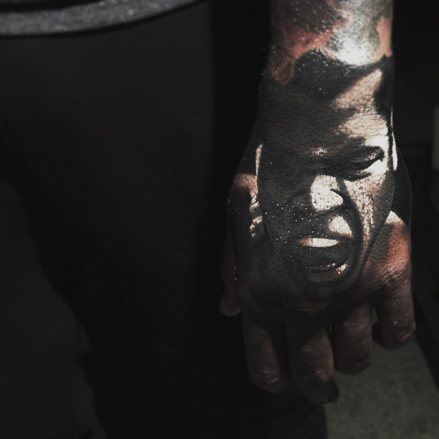 Back of Hand Mike Tyson tattoo