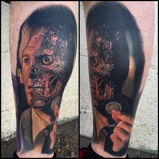 Batman Two-Face tattoo