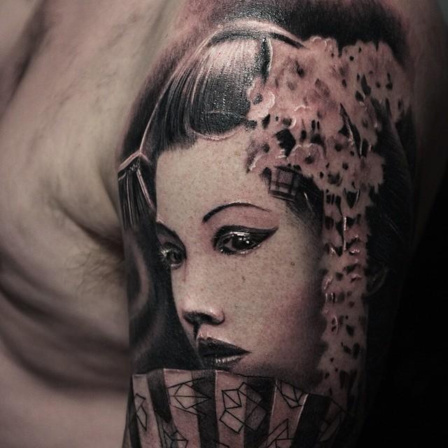 Beautiful Geisha tattoo