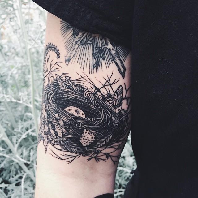 Bird Nest tattoo