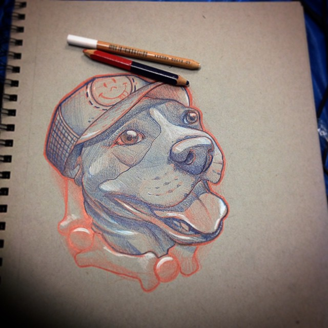 Bone Collar Dog tattoo idea