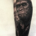 Caesar Planet of the Apes tattoo