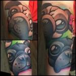 Cute Little Pug tattoo