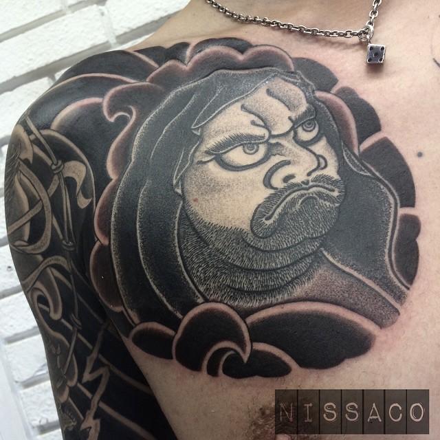 Dots Daruma tattoo