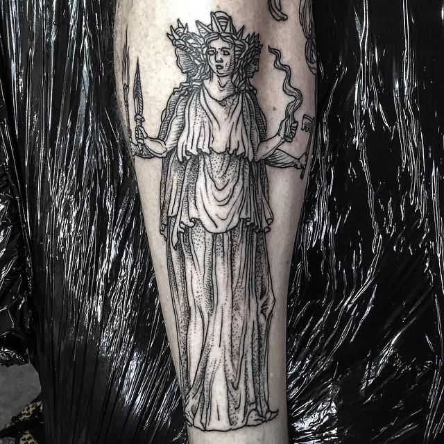 Dotwork Four Hand Goddess