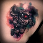 Fat Astronaut tattoo