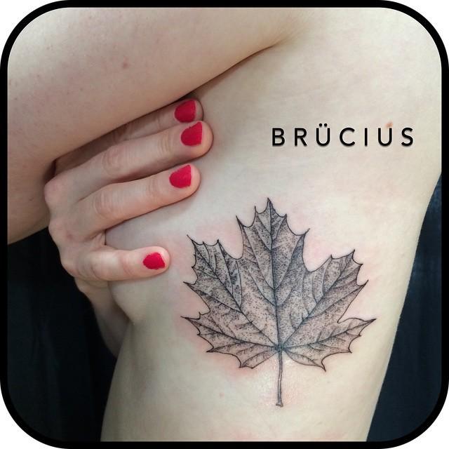 Maple Leaf Body tattoo