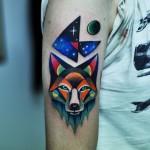 Night Fox Arm tattoo