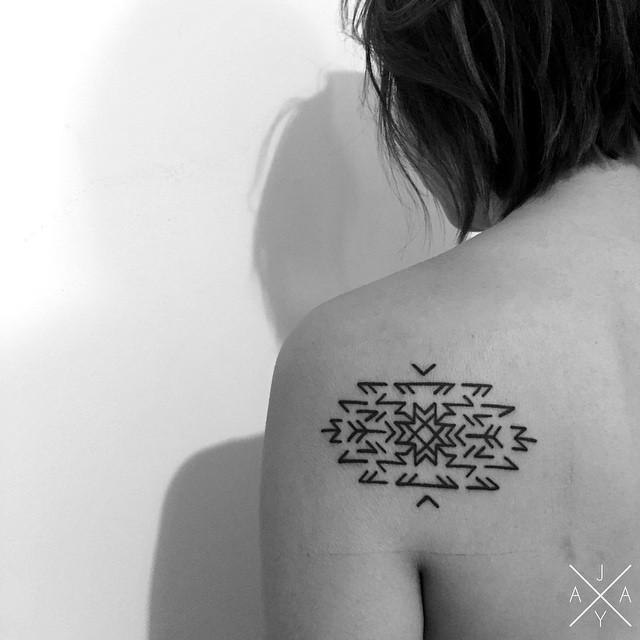 Runic Snowflake tattoo