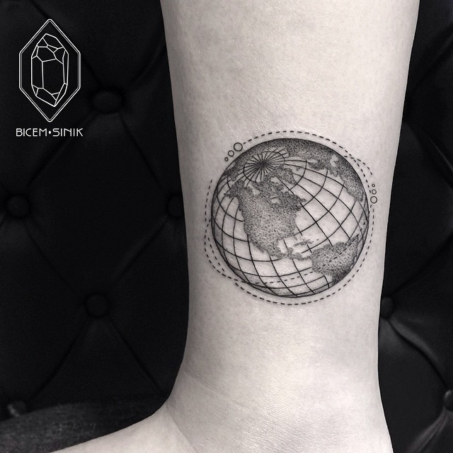 Satellites Planet Earth Tattoo