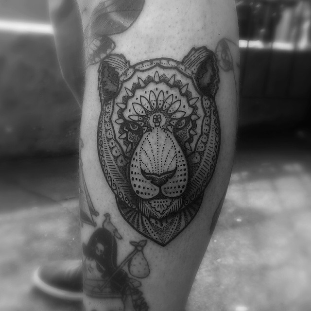 Serious Dotwork Bear