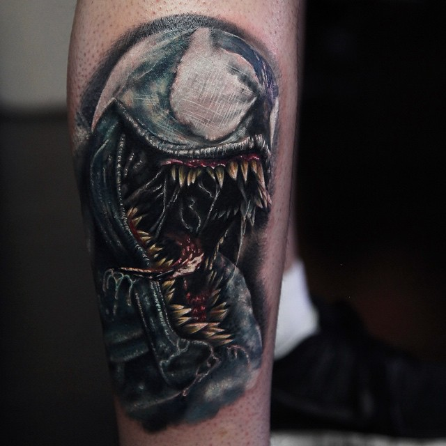 Sharp Teeth Venom tattoo