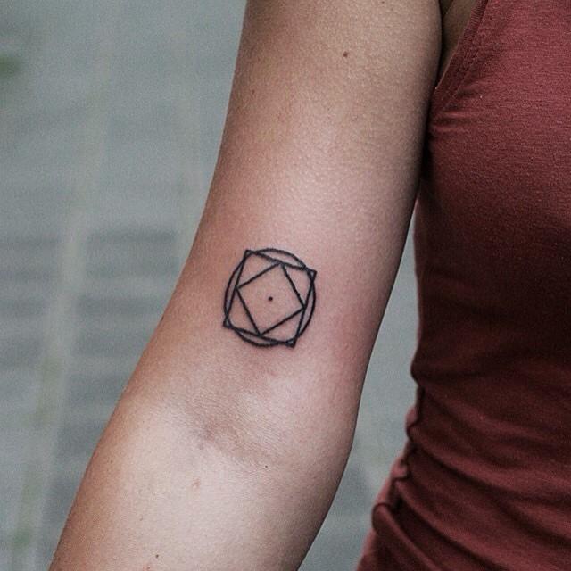 Small Geometry tattoo on Arm