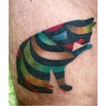 Small Rainbow Cat tattoo