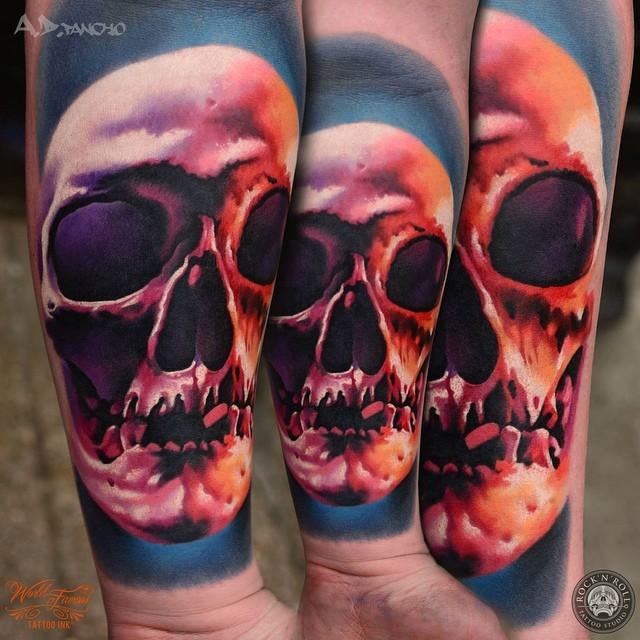 Toothless Skull tattoo on Arm