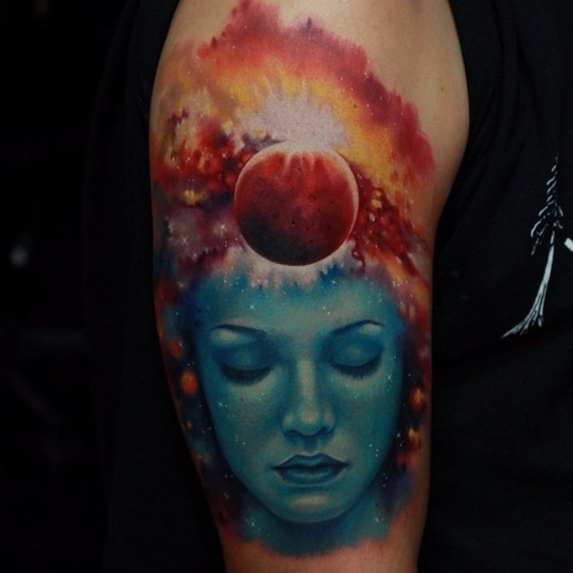 Think of Space tattoo