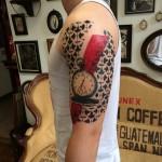 Trash Polka Shoulder Pocket Watch tattoo