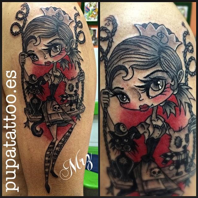 Trashy Little Queen tattoo