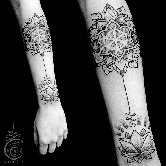 Two Perspectives Lotus tattoo