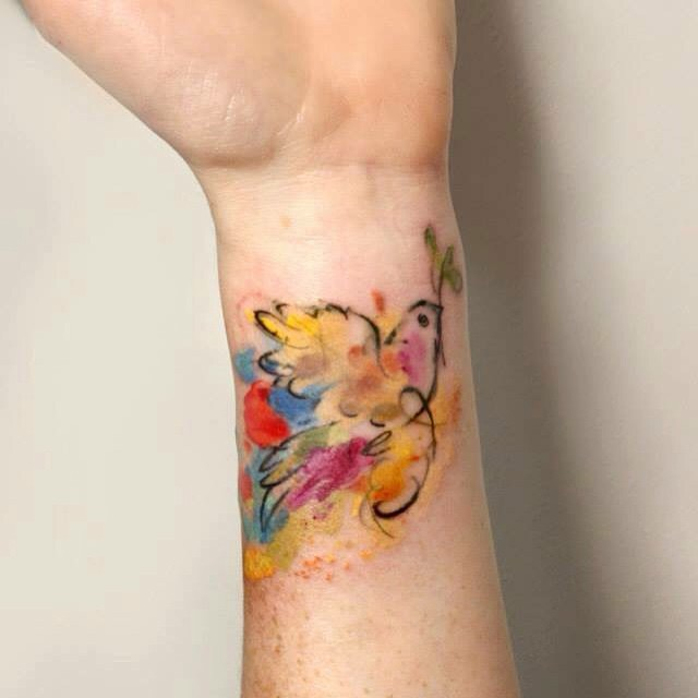 Wrist Bird Watercolor