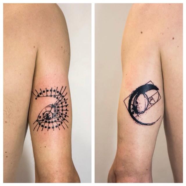 Ying Yang Arm tattoos