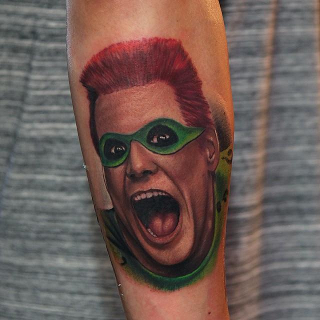 Arm Riddler Tattoo of Batman