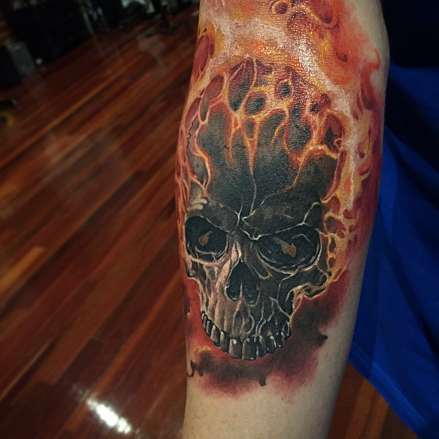 Ghost Rider Tattoo on Arm